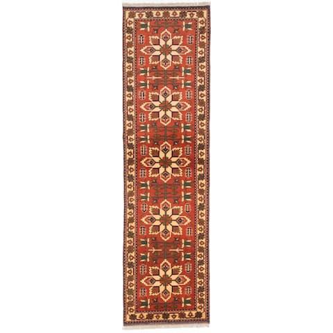 "ECARPETGALLERY Hand-knotted Finest Kargahi Copper Wool Rug - 2'10"" x 10'2"" Runner"
