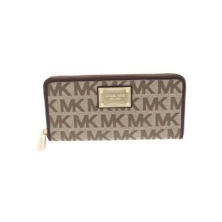 Michael Kors Womens Jet Set Zip Around Wallet Signature Embellished - o/s
