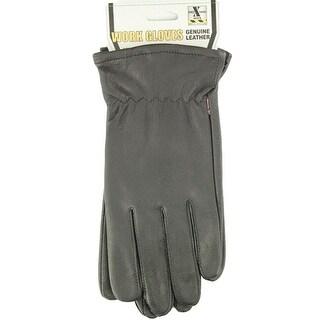 HDX Gloves Mens Work Goatskin Leather Comfort Black
