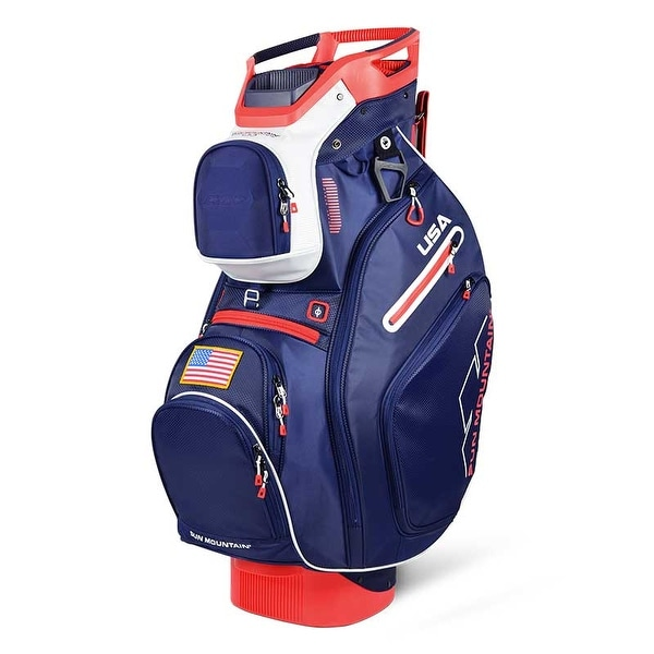 New 2019 Sun Mountain C-130 Golf Cart Bag (Navy / White / Red) - Navy / White / Red