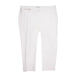 Lauren Ralph Lauren Womens Plus Twill Straight Leg Capri Pants - 18W