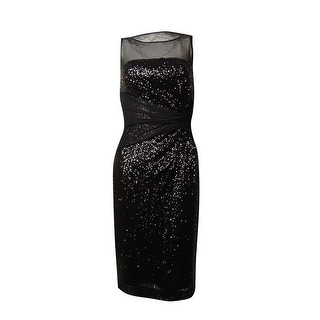 Lauren Ralph Lauren Women's Sequin Mesh Sheath Dress
