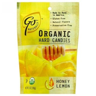 Go Organic - Honey Lemon Hard Candy ( 6 - 3.5 OZ)