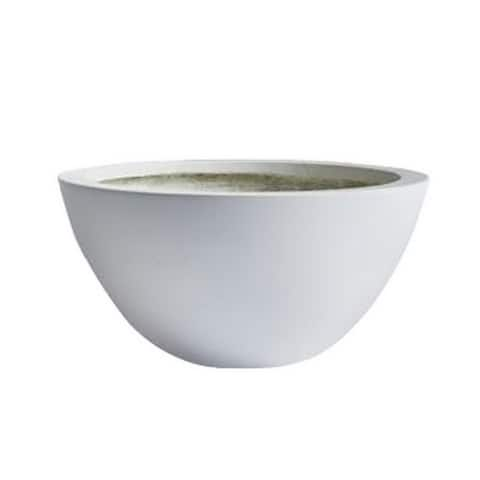 DreamPatio Los Angeles 1-Piece Fiberstone Succulent Bowl Planter