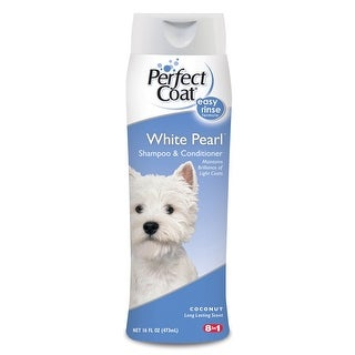 8 in 1 Perfect Coat White Pearl Shampoo & Conditioner 16oz