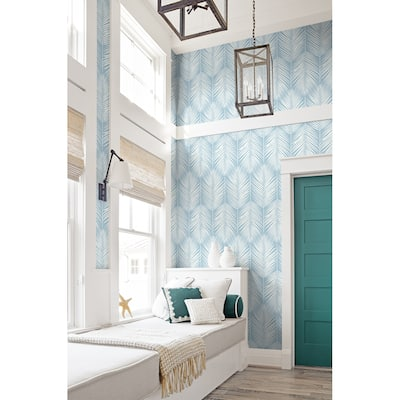 Seabrook Designs Athena Palm Unpasted Wallpaper - 20.5 in. W x 33 ft. L