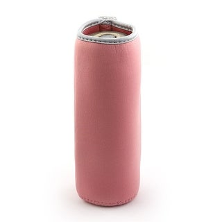 Spandex Heat Insulated Hands Protector Reusable Glass Cup Cover Sleeve - Gray,Pink