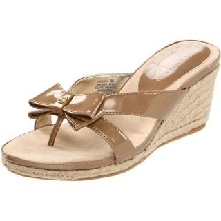 AK Anne Klein Women's Pointy Wedge Sandal