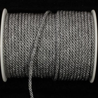 Pewter Metalized Braided Cording 4.4mm x 55 Yards