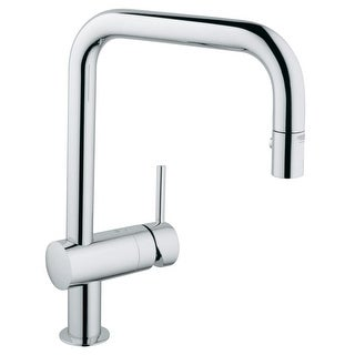 Grohe 32 319 Minta Pull Down Kitchen Faucet With 2 Function Locking Sprayer  (