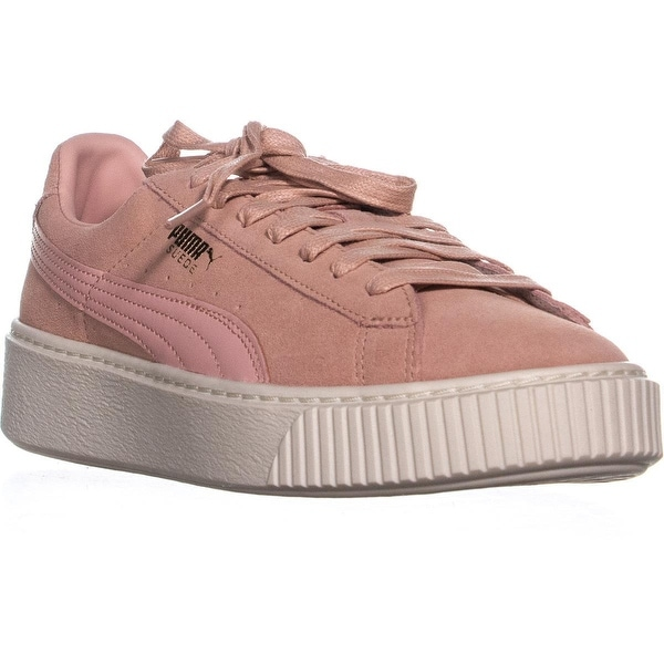 separation shoes 71474 f18ce Puma Suede Platform Lace-Up Sneakers, Coral Cloud/Whisper White