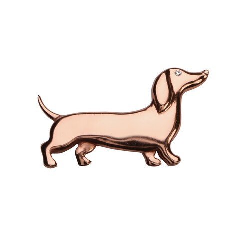 "Women's Dachshund Weiner Dog Pin - Copper - 2"" Long"