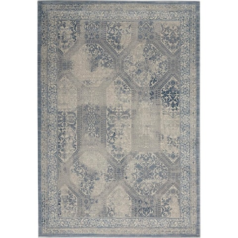 Kathy Ireland Grand Expressions Distressed Area Rug