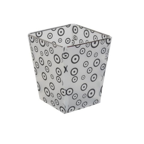 Foldable Paper Waste Bin Bucket Garbage DIY Can Container Black Clear White