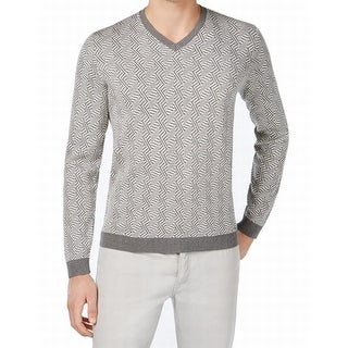 Calvin Klein NEW Gray Mens Size 2XL Slim-Fit V-Neck Pull-Over Sweater