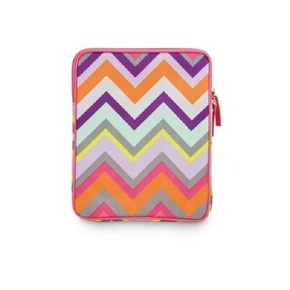 Bold Pink Purple Orange Chevron Stripe Tech Tablet or eReader Soft Case