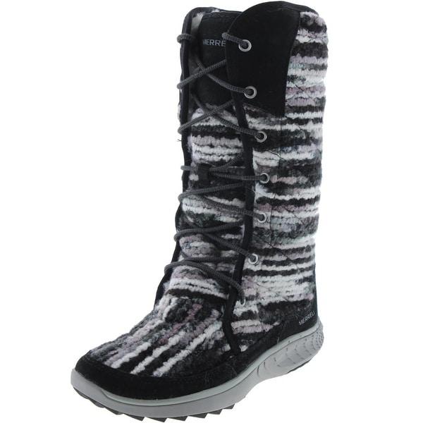 Merrell Womens Pechora Sky Winter Boots Boucle Mid Calf