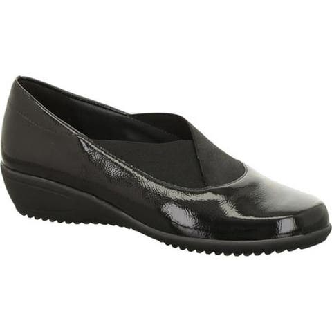ara Women's Lael 44239 Slip-On Black Crinkle Patent