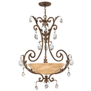 Fredrick Ramond FR44103 4 Light 1 Tier Chandelier from the Barcelona Collection - french marble