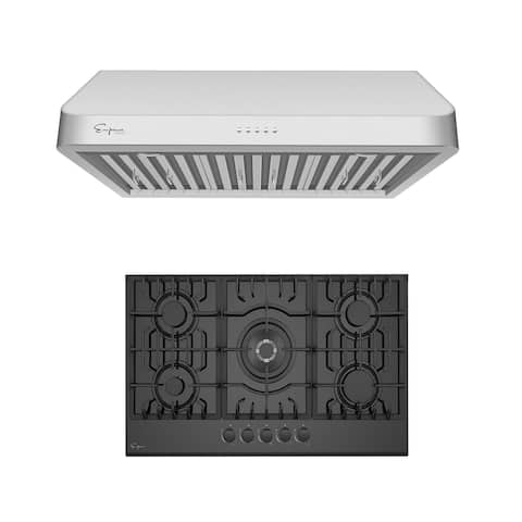 """2 Piece Kitchen Package with 30"""" Gas Cooktop & 36"""" Ducted Under Cabinet Range Hood"""