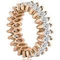 5.75 cttw. 14K Rose Gold Marquise Diamond Eternity Ring - Thumbnail 2