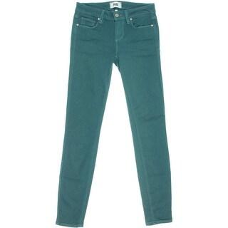 Paige Womens Verdugo Denim Mid-Rise Skinny Jeans
