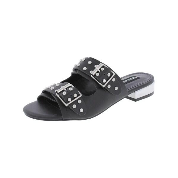 Design Lab Womens Punk Slide Sandals Studded Open Toe