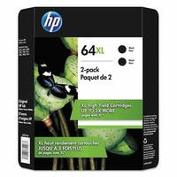 HP 64XL High Yield Ink Cartridge, Black 2-pack - N/A