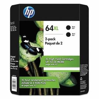 HP 64XL High Yield Ink Cartridge, Black 2-pack
