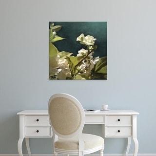 Easy Art Prints Rick Novak's 'White Roses II' Premium Canvas Art