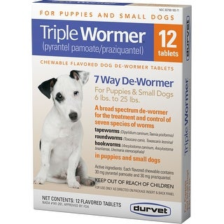 Triple Wormer Broad Spectrum De-wormer For Dogs