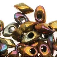Miyuki Long Magatama Seed Beads - 4x7mm 'Metallic Iris Gold' 8.5 Grams