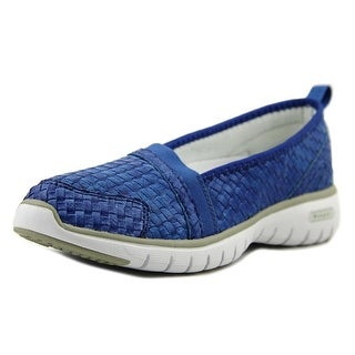 Propet Travellite Slip-On Woven Women N/S Round Toe Synthetic Blue Loafer