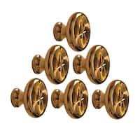 4 6 Cabinet Knob Bright Solid Brass 1 1/4 Dia | Renovator's Supply