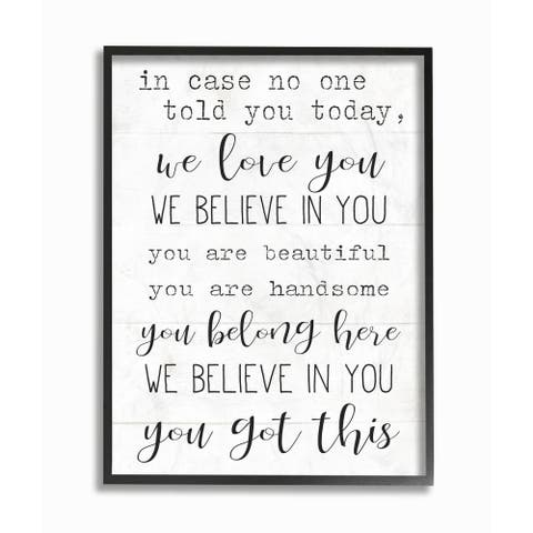 Stupell Industries You Got This Inspirational Family Home Word Design Framed Wall Art
