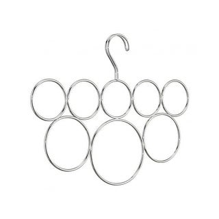 InterDesign 06730 Classico Scarf Holder, 8 Loops, Chrome