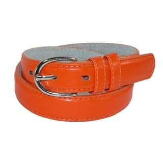 CTM® Kid's Leather 1 inch Basic Dress Belt (Pack of 2)