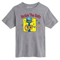 Pete The Cat Rockin The Rails Youth - Youth Short Sleeve Tee