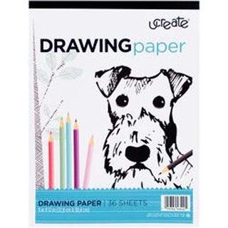 """- U-Create Drawing Paper Pad 9""""X12"""" 36/Pkg"""