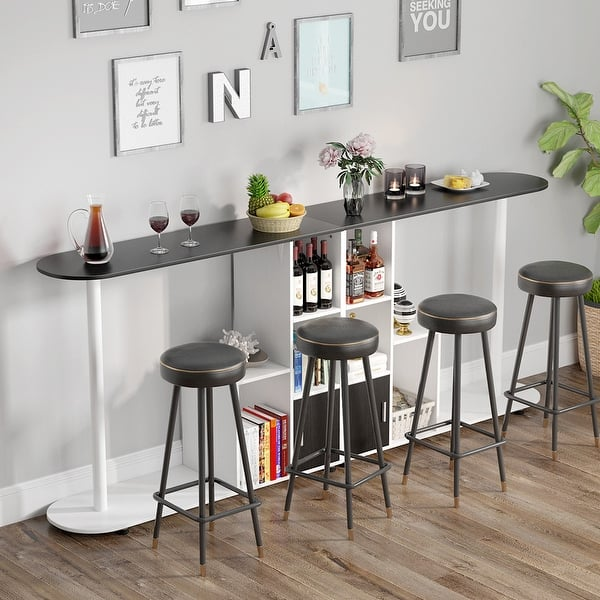 Pub Table With Storage , Modern Bar Bistro Table With Kitchen Door,kitchen Table In Dining Area - Overstock - 30126080