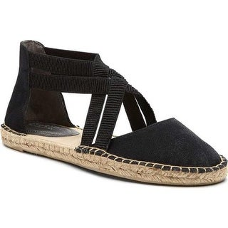 Kenneth Cole Reaction Women's How To Dance Espadrille Flat Black Fabric