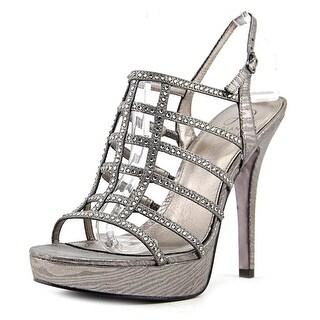 Adrianna Papell Maya Women Open Toe Synthetic Silver Platform Sandal