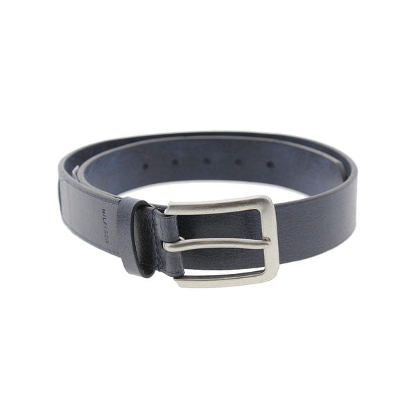 Tommy Hilfiger Mens Casual Belt Faux Leather Crackle
