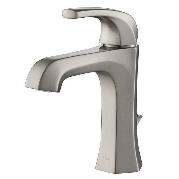 KRAUS Esta Single Handle 1-Hole Bathroom Faucet w/ Lift Rod Drain