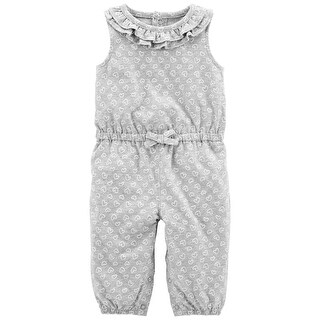 Carter's Baby Girls' Ruffle Heart Jumpsuit