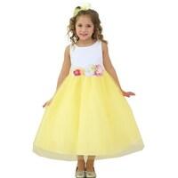 030e08f75 Shop Little Girls Yellow Sunflower Print Bow Attached Flower Girl ...