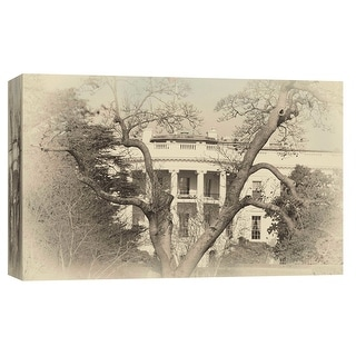 """PTM Images 9-103812  PTM Canvas Collection 8"""" x 10"""" - """"White House Sepia"""" Giclee The White House Art Print on Canvas"""