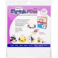 "White - Inkjet Shrink Film 8.5""X11"" 50/Pkg"