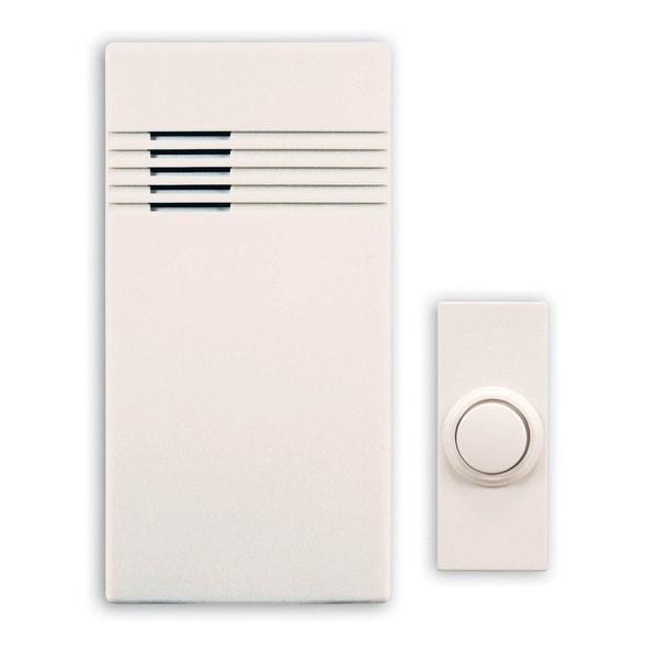 Heath Zenith SLA-7750-02 Wireless Portable Door Chime, 100' Range, Off White