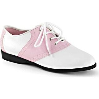 Funtasma Women's Saddle 50 Baby Pink/White PU